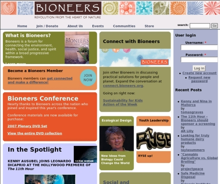Bioneers Website
